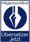 Zertifiziertes Mitglied bei Übersetzer.jetzt